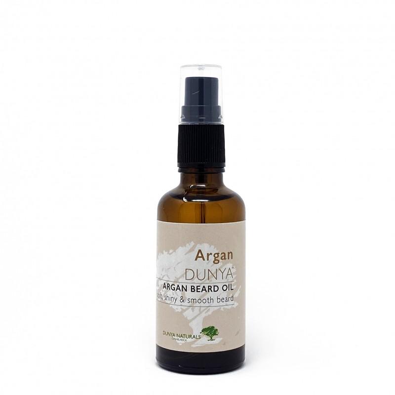 Organic beard oil with argan Dunya Naturals